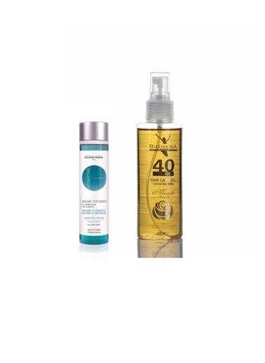 Eugene Perma Eugene Perma Essentiel Volum Texturist Şampuan 250 Ml+Biomega 40 Bitkili Doğal Saç Bakım Yağı 150 Ml Renksiz
